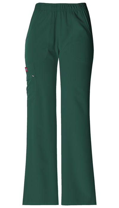 Dickies Xtreme Stretch Women's Mid Rise Pull-On Cargo Pant Green