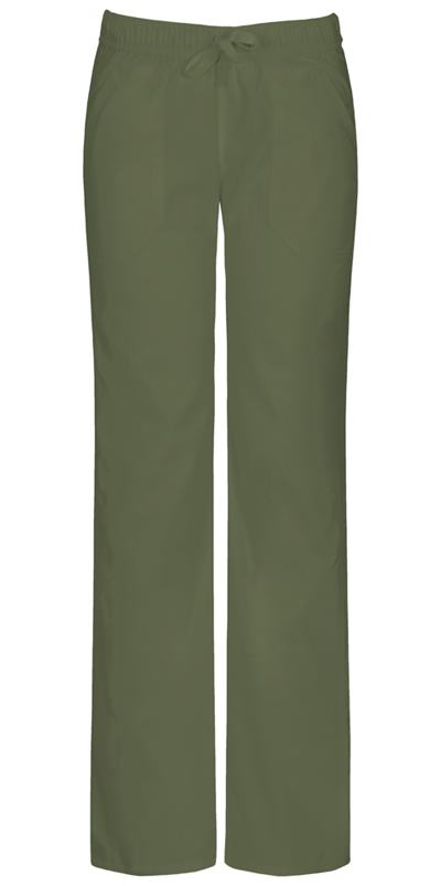 EDS Signature Stretch Women Low Rise Straight Leg Drawstring Pant Green