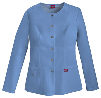 Xtreme Stretch Women's Snap Front Warm-Up Jacket Blue