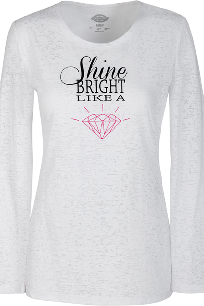 Fashion Solids Women's Shine Bright Knit Tee White