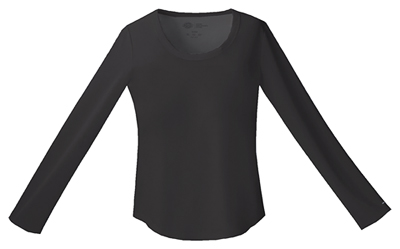 Performance System Women Long Sleeve Underscrub Knit Tee Black