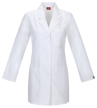 Dickies Prof. Whites Women's 32 Lab Coat White