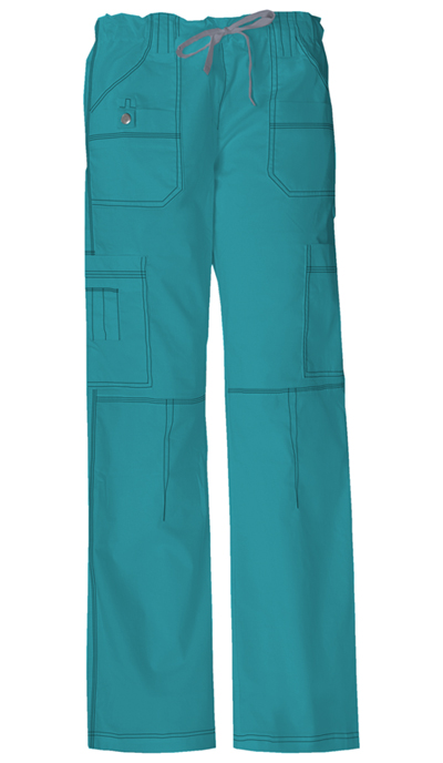 Dickies Gen Flex Women's Low Rise Drawstring Cargo Pant Green