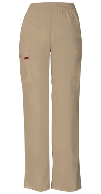 Dickies EDS Signature Women's Natural Rise Tapered Leg Pull-On Pant Khaki