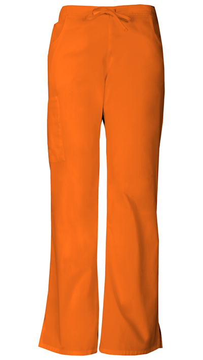 Dickies EDS Signature Women's Mid Rise Drawstring Cargo Pant Orange