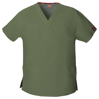 Dickies EDS Signature Women's V-Neck Top Green