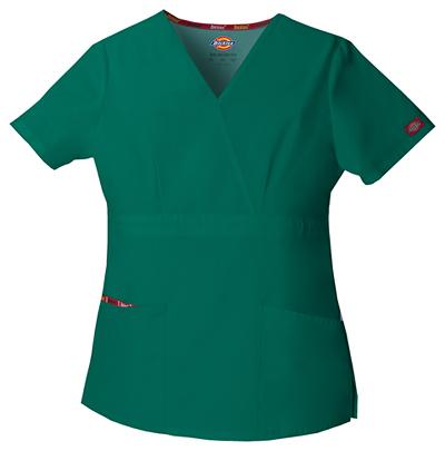 Dickies EDS Signature Women's Mock Wrap Top Green