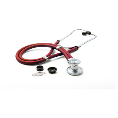 critical care cardiology Unisex ADSCOPE641 Sprague Rappaport Stethoscope Red
