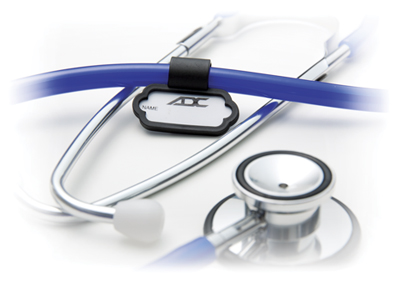ADC Unisex Stethoscope ID tag Black