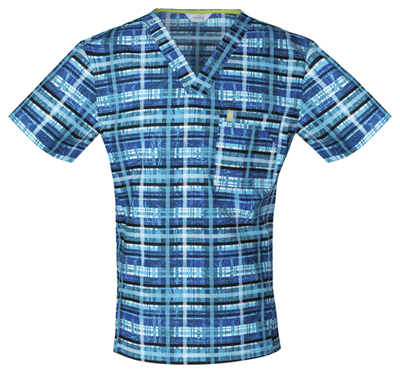 Code Happy Men Men's V-Neck Blue