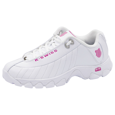 K-Swiss Women's Footwear Athletic with foam insoles White,Pink