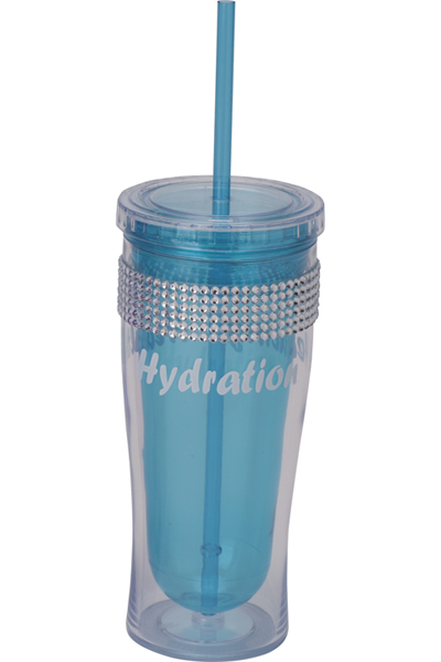Cherokee Women's Water Bottle with Bling Blue