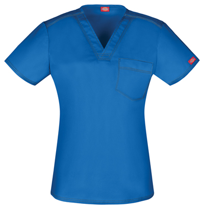Gen Flex Unisex Unisex V-Neck Top Blue