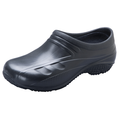 Anywear Medical Footwear Unisex Slip Resistant Injected Closed Back Clog Black