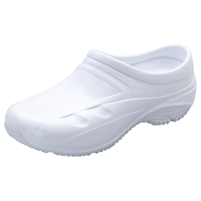 Anywear Medical Footwear Unisex Slip Resistant Injected Closed Back Clog White