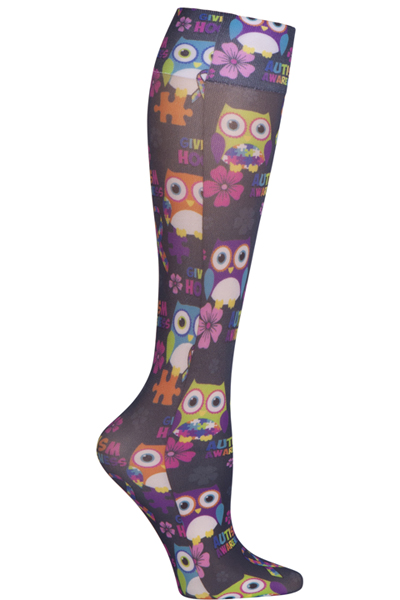 Cherokee Women's FASHIONSUPPORT Autism Awareness Owls