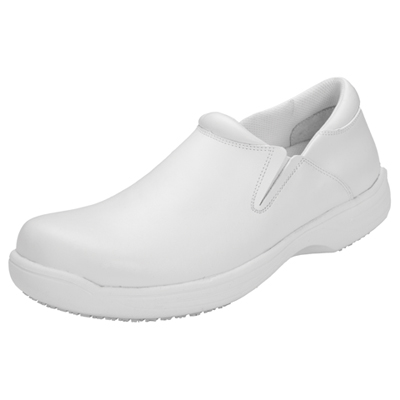 Medical Footwear Men's Slip Resistant Mens Step In Footwear White