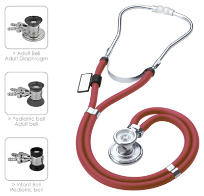 MDF Unisex MDF Sprague Rappaport Stethoscope Red
