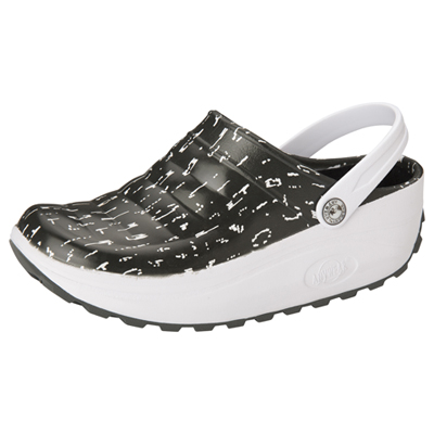 Medical Footwear Unisex Injected High Lobe Clog Lovely In Leopard