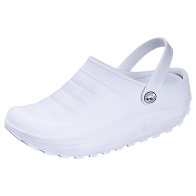 Medical Footwear Unisex Injected High Lobe Clog White