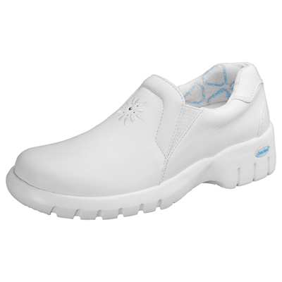 Cherokee Medical Footwear Women's Soft Leather Step in Footwear White