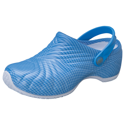 Dickies Medical Footwear Unisex Injected Clog w/ backstrap Blue Pattern