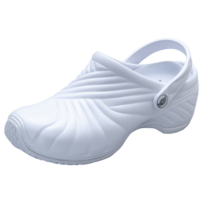 Medical Footwear Unisex Injected Clog w/ backstrap White