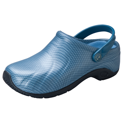 Anywear Medical Footwear Unisex Anywear Injected Clog w/Backstrap Caribbean Chrome