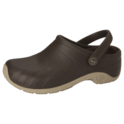 Anywear Medical Footwear Unisex Anywear Injected Clog w/Backstrap Brown