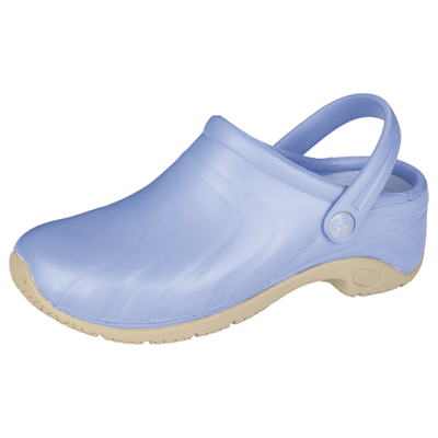 Anywear Medical Footwear Unisex Anywear Injected Clog w/Backstrap Blue