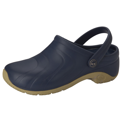 Medical Footwear Unisex Anywear Injected Clog w/Backstrap Blue