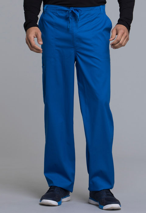Cherokee Cherokee Luxe Men's Men's Fly Front Drawstring Pant Blue