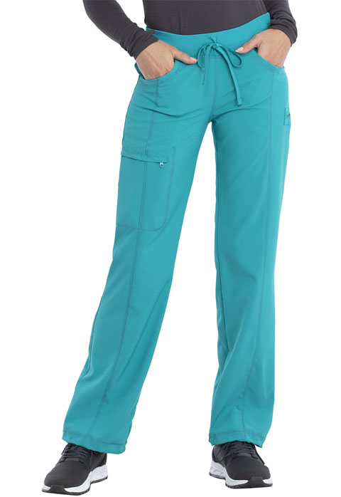 Infinity Women's Low Rise Straight Leg Drawstring Pant Blue