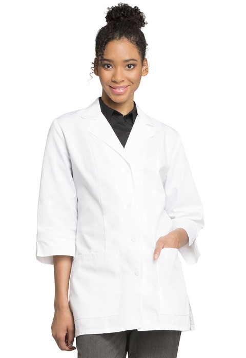 "Cherokee Professional Whites Women's 30"" 3/4 Sleeve Lab Coat White"