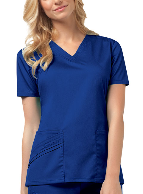 Luxe Women's V-Neck Top Blue