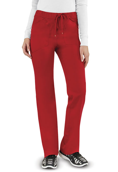 Head Over Heels Women's Low Rise Drawstring Pant Red