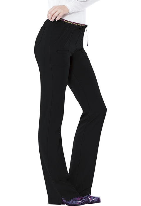 "HeartSoul Break on Through Women's ""Heart Breaker"" Low Rise Drawstring Pant Black"