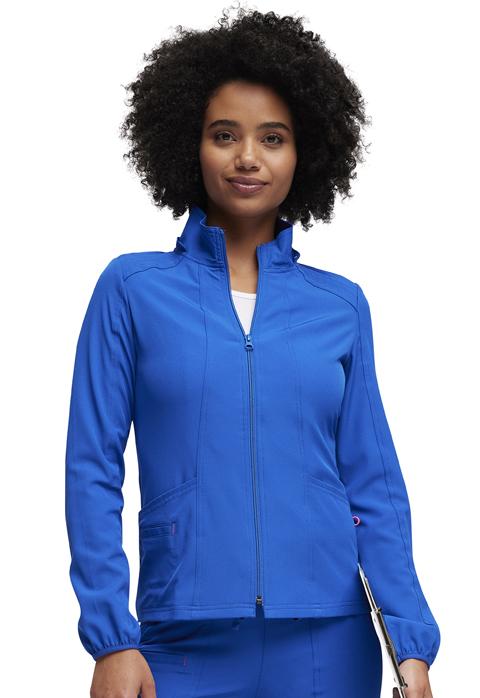 HeartSoul Break on Through by HeartSoul Women's Zip Front Warm-Up Jacket Blue