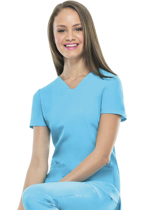 "HeartSoul Break on Through Women's ""Pitter-Pat"" Shaped V-Neck Top Blue"