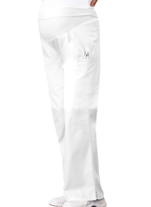 cf996d839dda9 Flexibles Maternity Knit Waist Pull-On Pant in White 2092-WHTD from ...