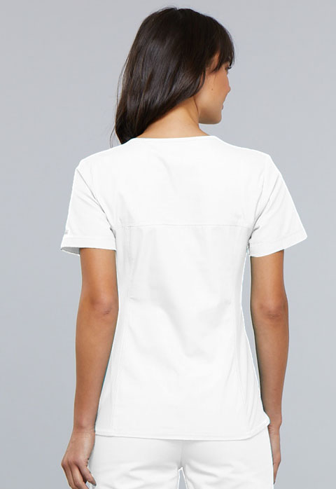 Photograph of V-Neck Knit Panel Top