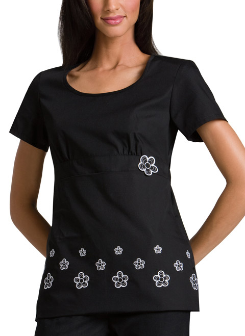 Photograph of Round Neck Embroidered Top