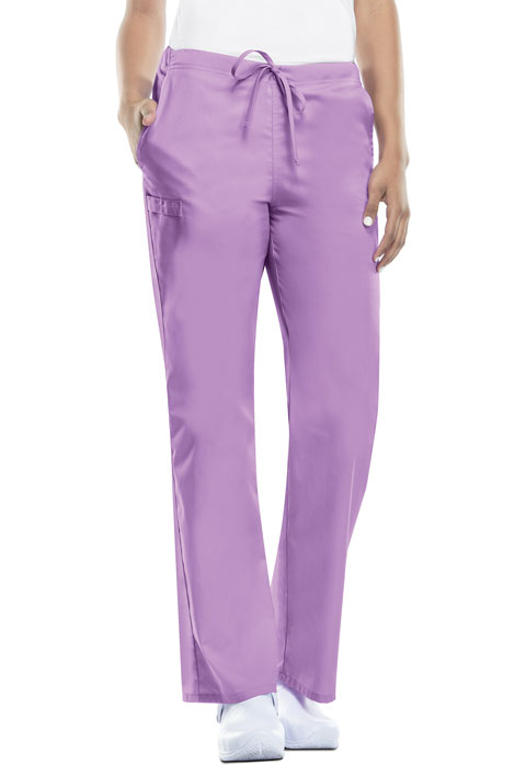 Cherokee Workwear WW Flex Unisex Unisex Natural Rise Drawstring Pant Purple