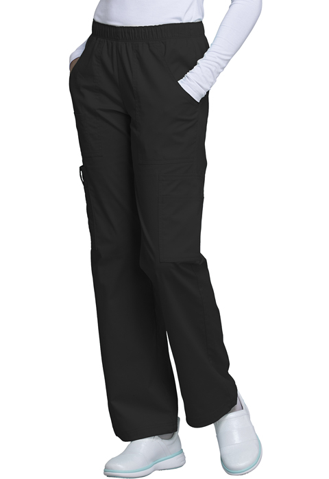 WW Core Stretch Women Mid Rise Pull-On Pant Cargo Pant Black
