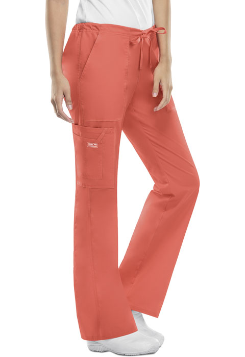 WW Core Stretch Women's Mid Rise Drawstring Cargo Pant Orange