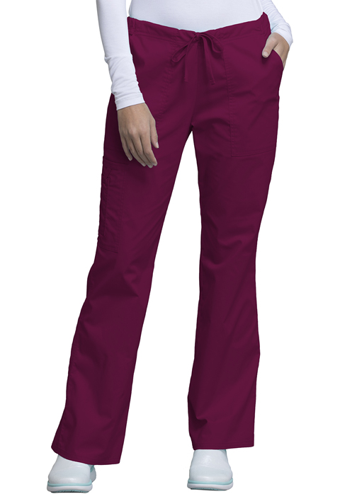 WW Core Stretch Women's Mid Rise Drawstring Cargo Pant Purple