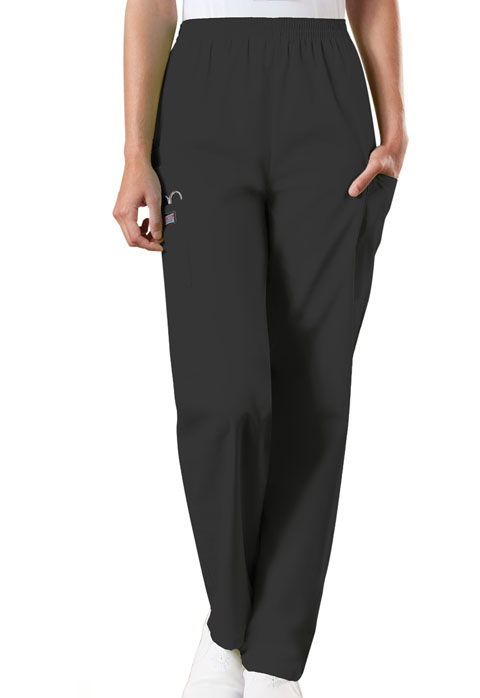 237eb2e950a WW Originals Natural Rise Tapered Pull-On Cargo Pant in Black 4200P ...