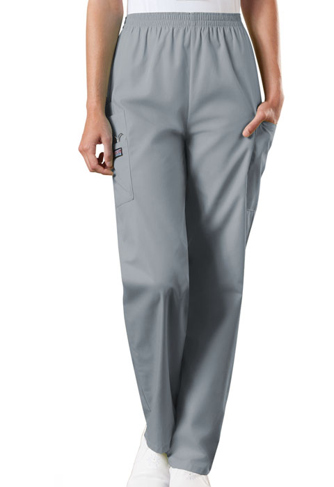 WW Originals Women Natural Rise Tapered Pull-On Cargo Pant Gray