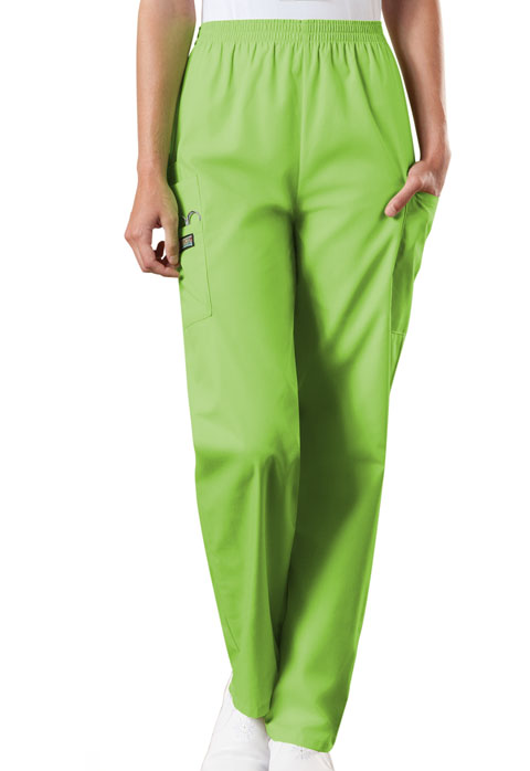 Natural Rise Tapered Pull-On Cargo Pant in Lime Green from ...