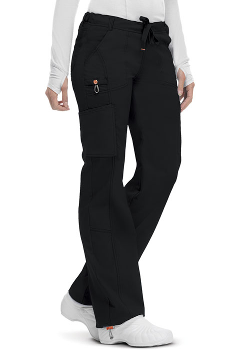 Code Happy Code Happy Bliss Women's Low Rise Straight Leg Drawstring Pant Black